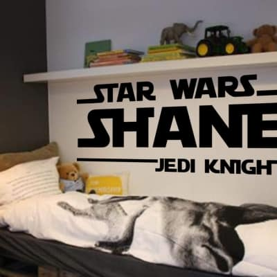 Star Wars personalised wall decal