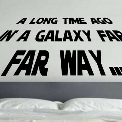 Star Wars a long time ago wall decal
