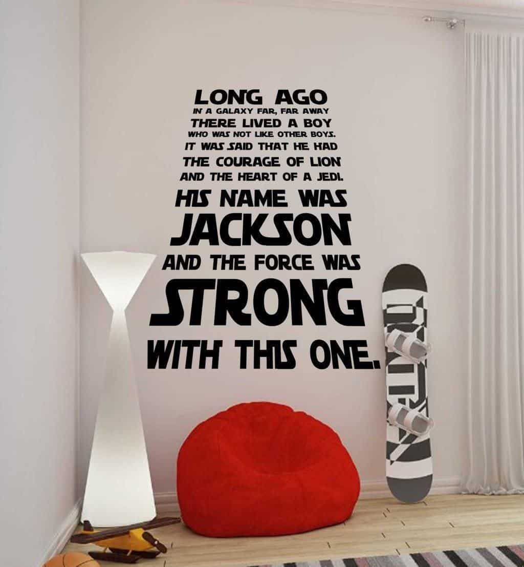 Star Wars A long time ago personalised wall decal