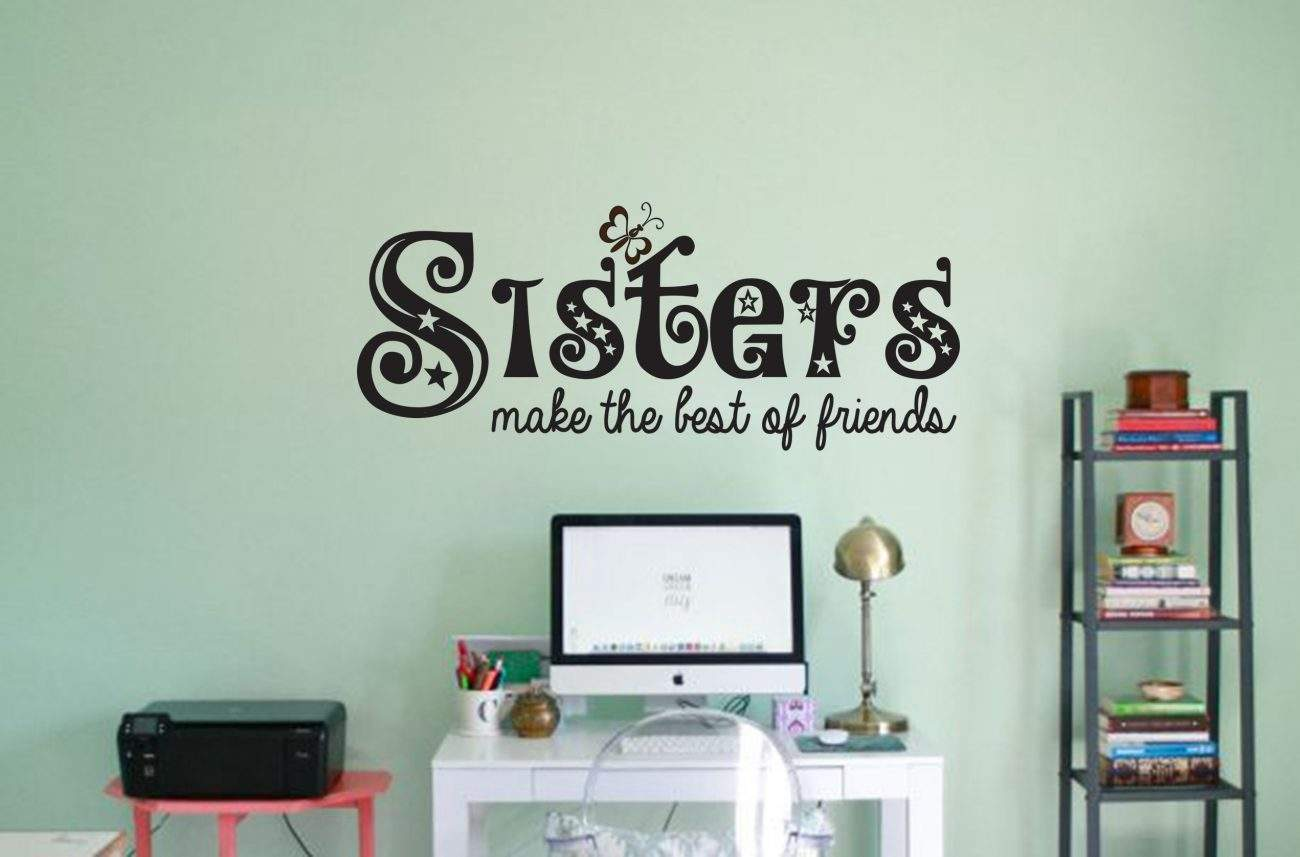 Sisters wall decal