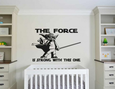 Star Wars the force wall decal