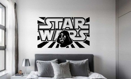 Star Wars dark vader wall decal