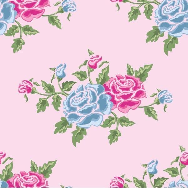 Blue Pink Rose