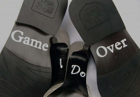 Wedding shoes decal stickers