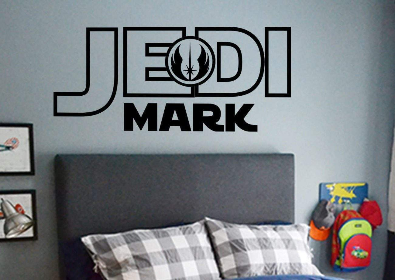 Star Wars Jedi personalised wall decal