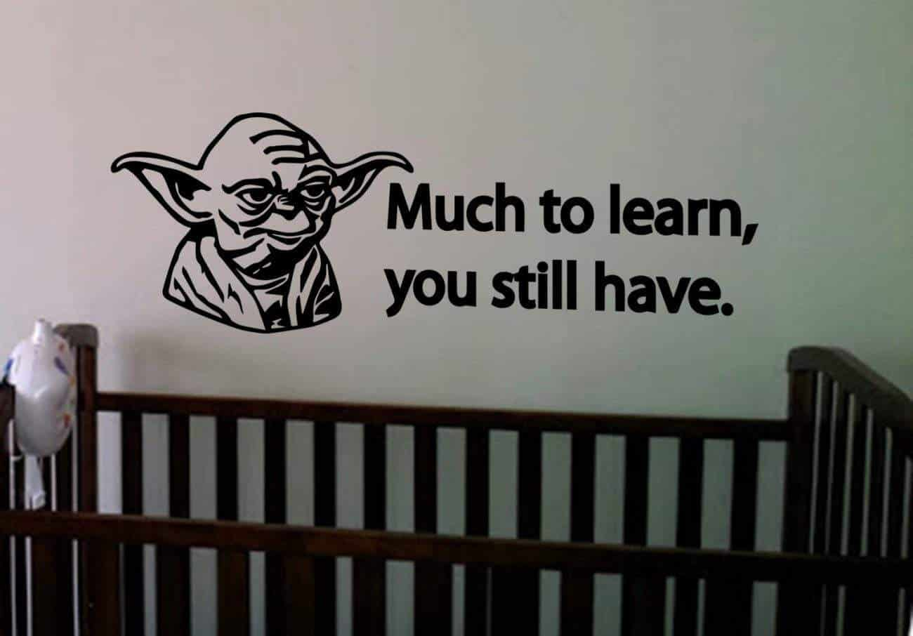 Star Wars much to learn wall decal