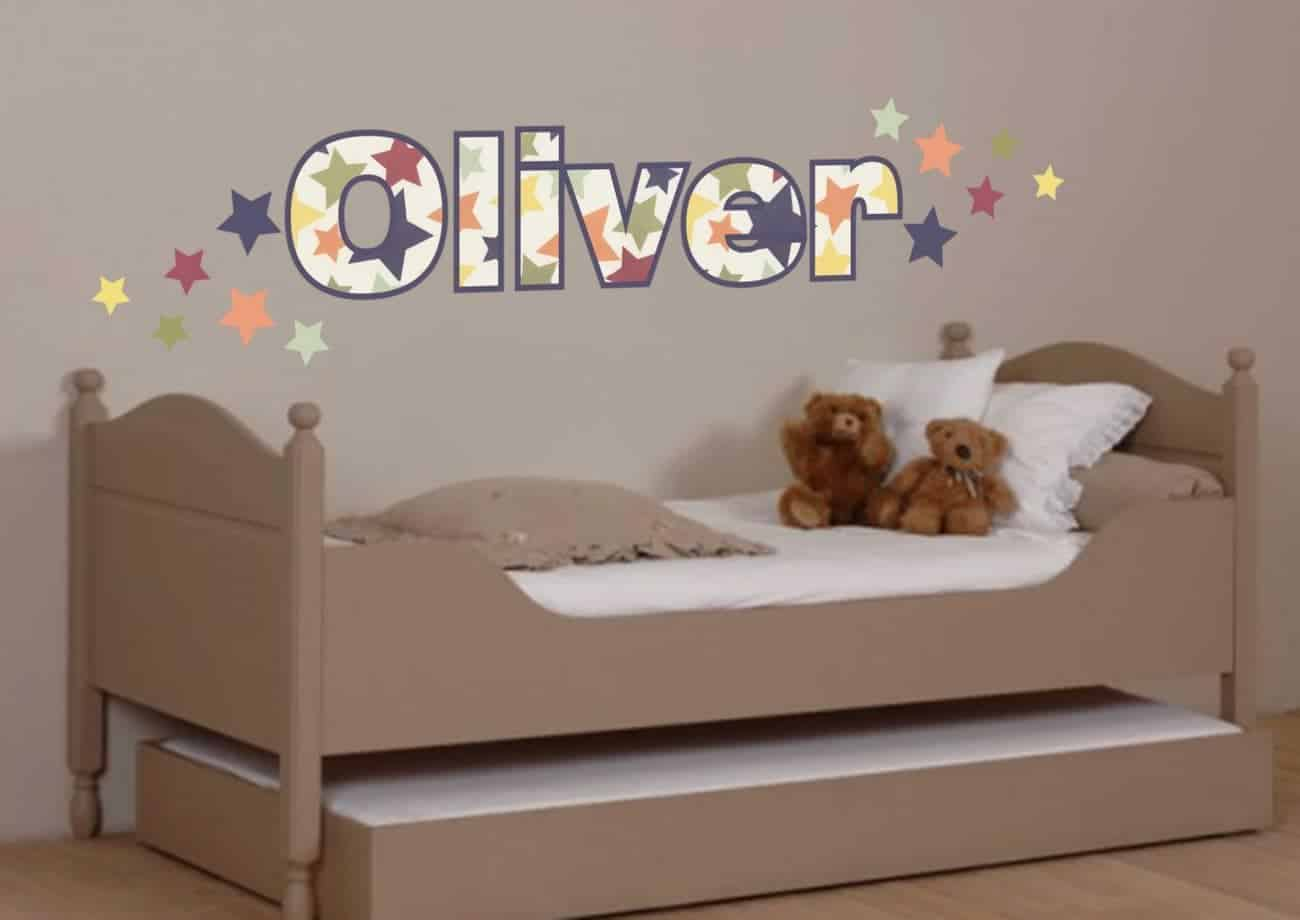 Personalised name stars pattern