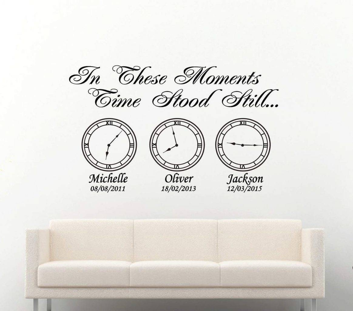 In these moments time stood still clocks | Date of birth clocks