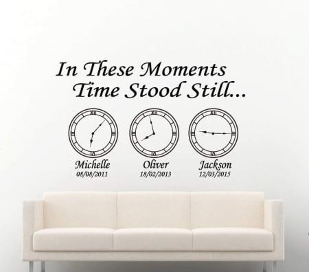 Date of birth clocks | In these moments time stood still
