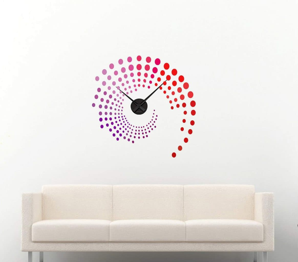 Wall decal sticker clock