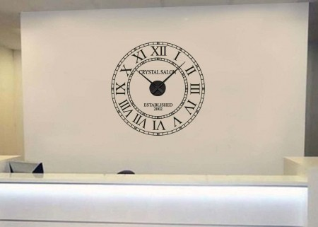 Business name wall clock