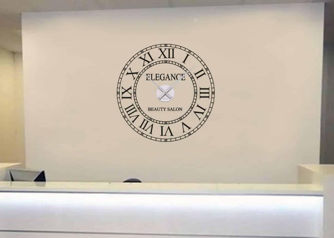 Business name clock