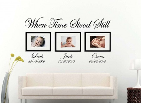 When Time Stood Still | date of birth wall art decal