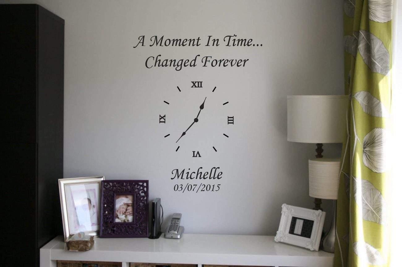 Memory clock | Date of birth clock | wall art decal stickers