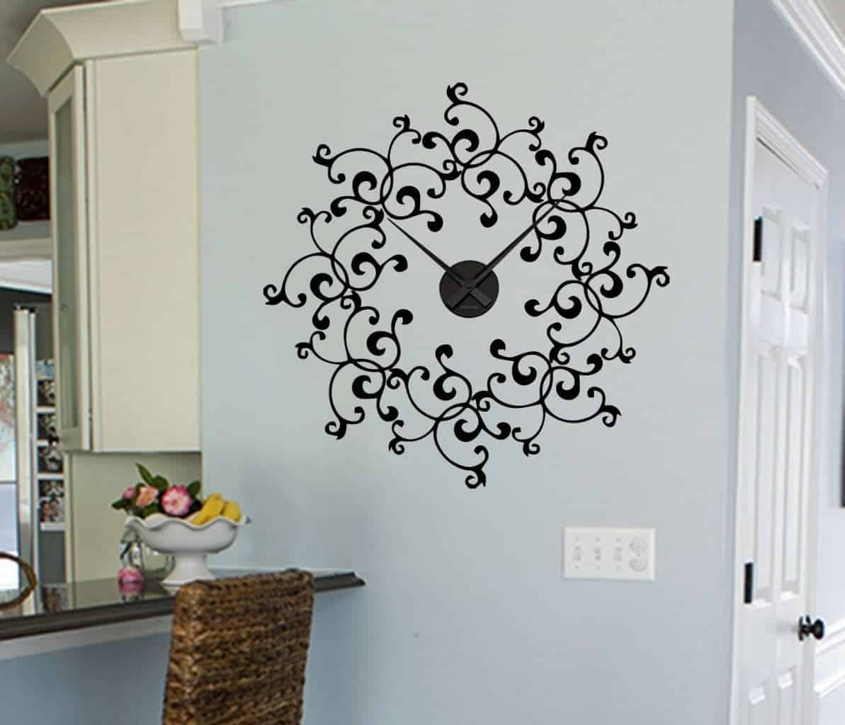sticker clock | Wall decal sticker clock