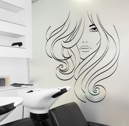 Hairstyle salon wall decal sticker