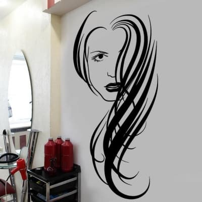 Hairstyle salon wall decal
