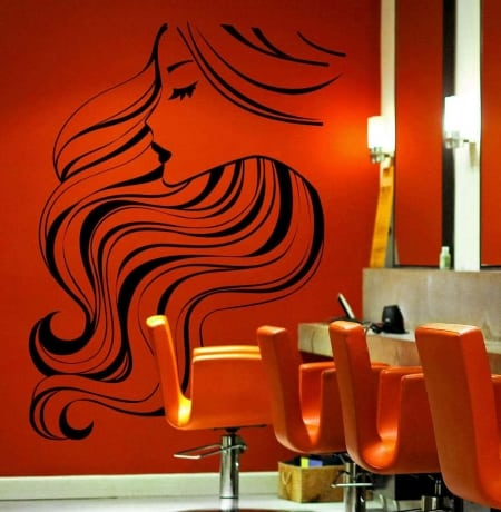 Hairstyle wall decal sticker