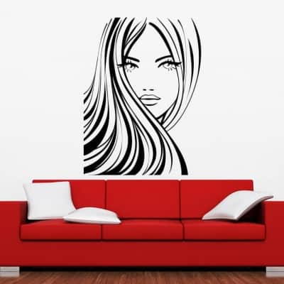Hairstyle salon decal