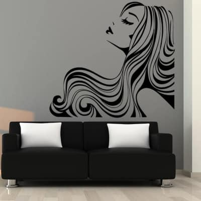 Hairstyle salon wall art decal sticker