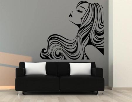 Hairstyle salon wall art decal sticker