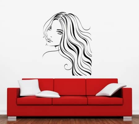 Hairstyle wall art decal sticker