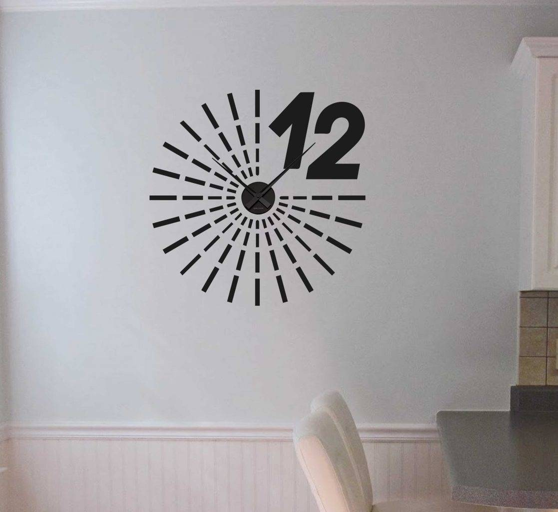 Wall decal sticker clock | strokes