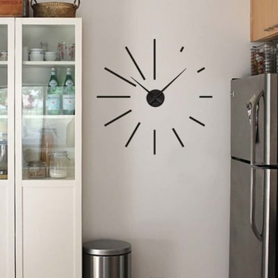 Wall decal sticker clock | simple strokes