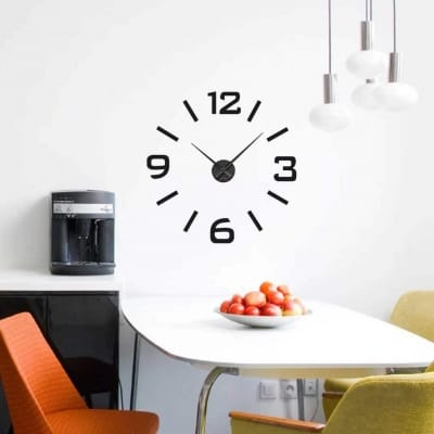 Wall decal sticker clock | numbers strokes