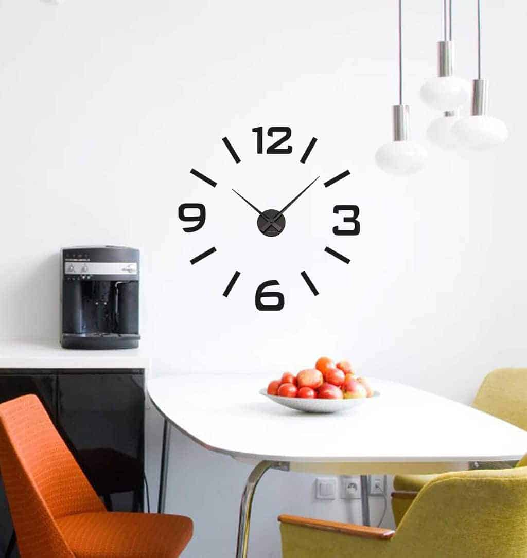 Wall Decal Sticker Clock Numbers Strokes Wall Art Decal Clock - Wall decals clock