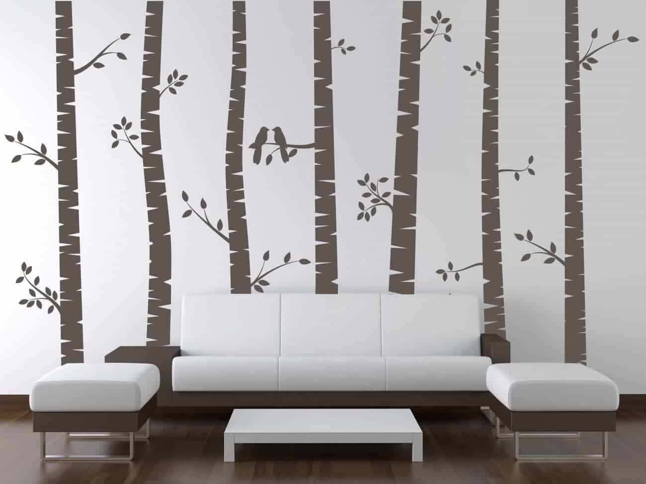 Birch tree wall decal sticker