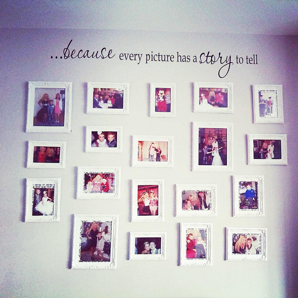 Every picture has a story to tell wall decal sticker