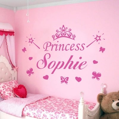Personalised princess name decal