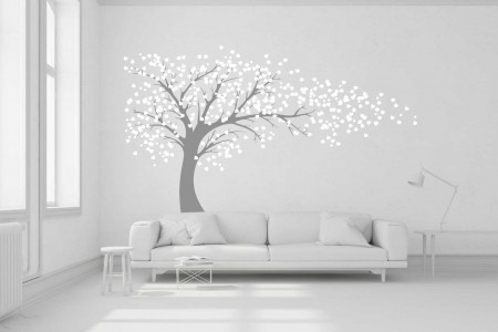 Blowing Tree wall decal