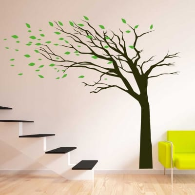 Blowing Tree wall art decal sticker