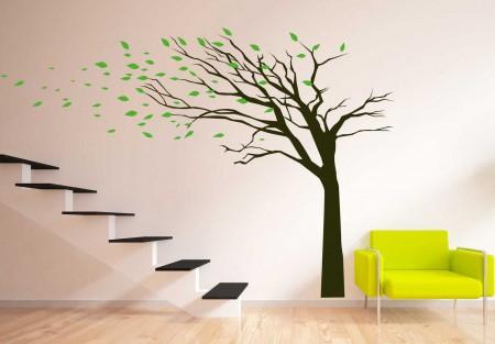 Blowing Tree wall art decal sticker