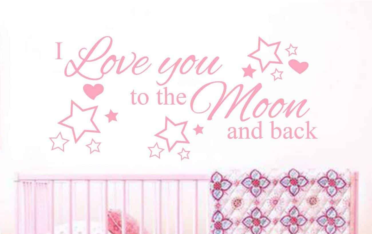 I love you to the moon and back wall decal sticker