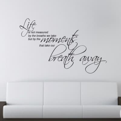 Life moments wall art decal sticker