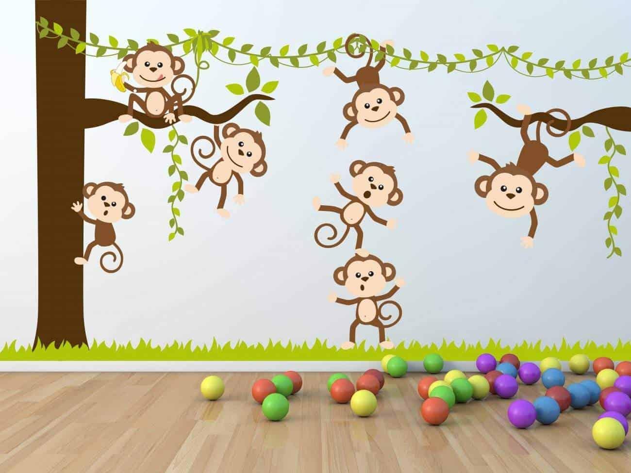 Monkey tree wall decal sticker Monkey tree wall decal sticker