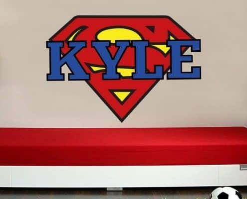 Personalised superman logo