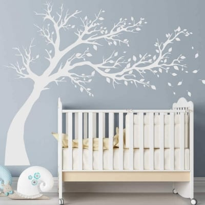 Blowing Tree wall decal sticker
