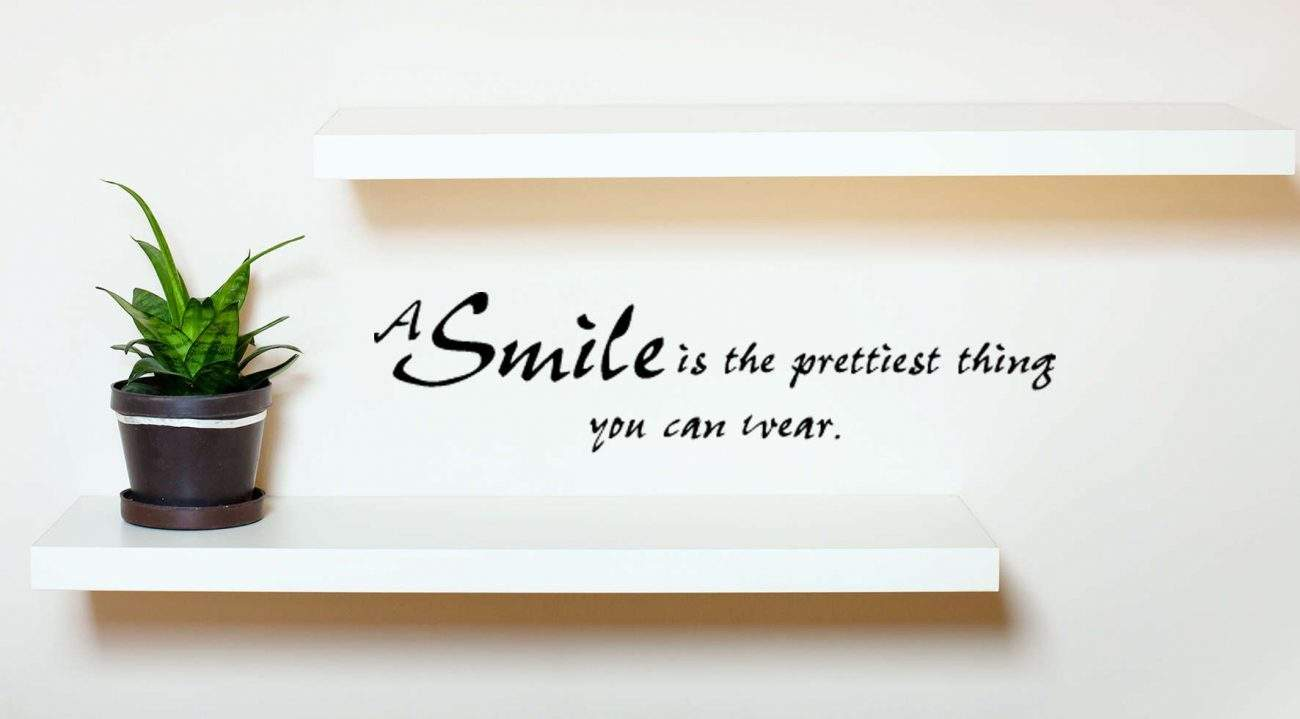 A smile wall decal sticker
