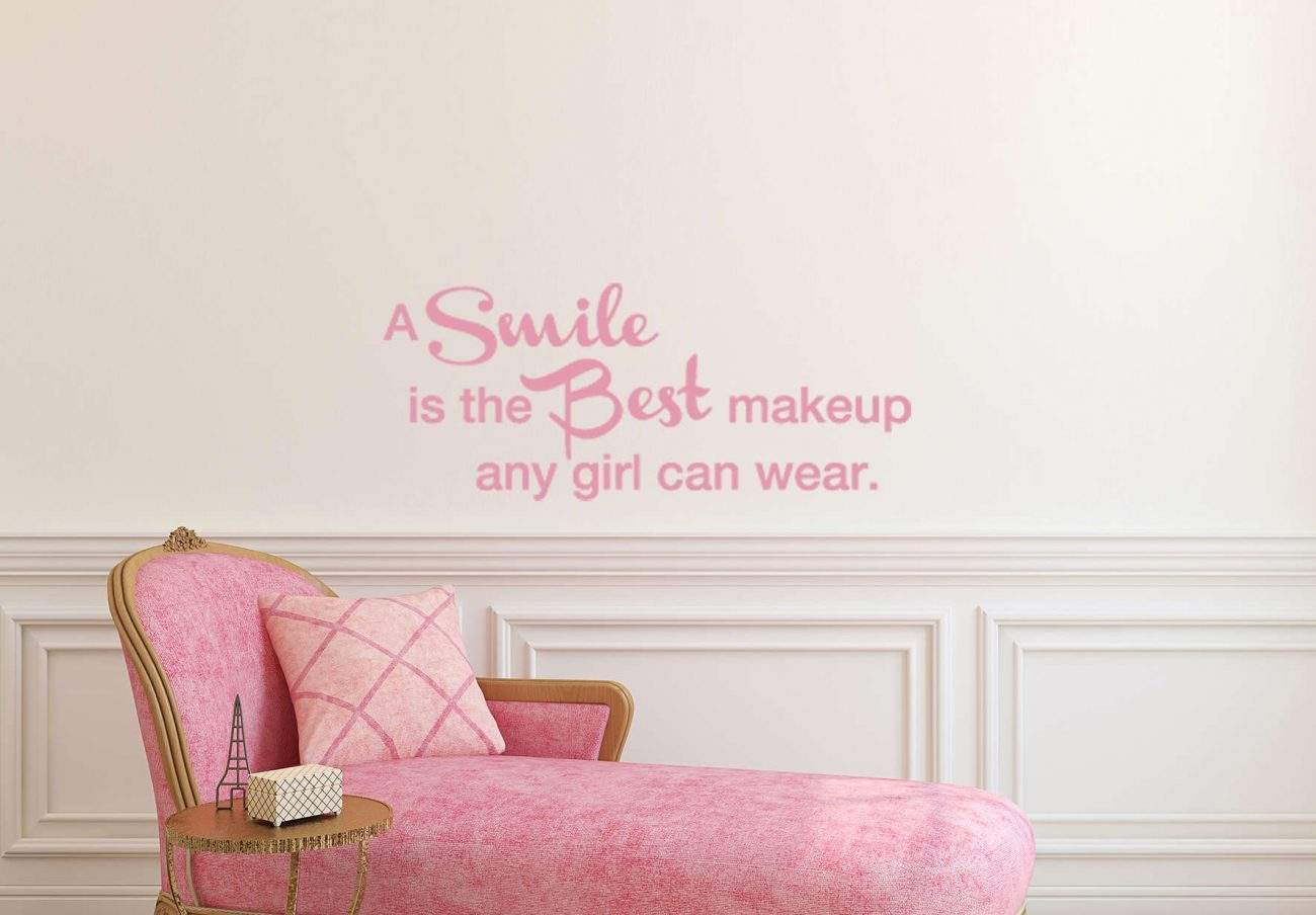 A smile is the best make up wall decal sticker