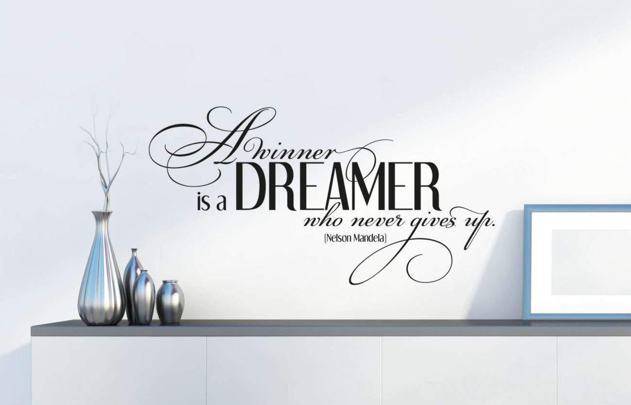 A winner is a dreamer wall decal sticker | Nelson Mandela decal