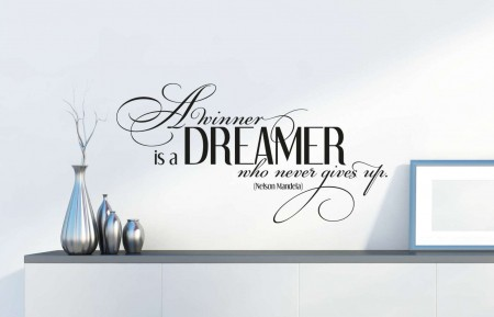 A winner is a dreamer wall decal sticker | Nelson Mandela decal