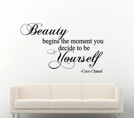 Beauty wall decal sticker