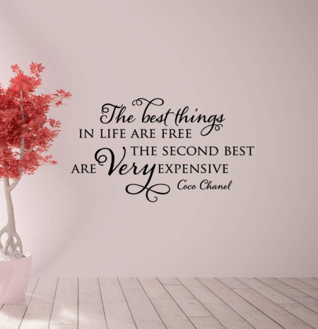 The best things Coco Chanel wall decal sticker