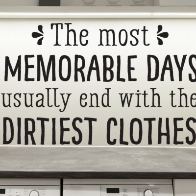 Dirtiest clothes laundry room wall decal sticker