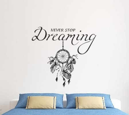 Dream catcher never stop dreaming wall decal