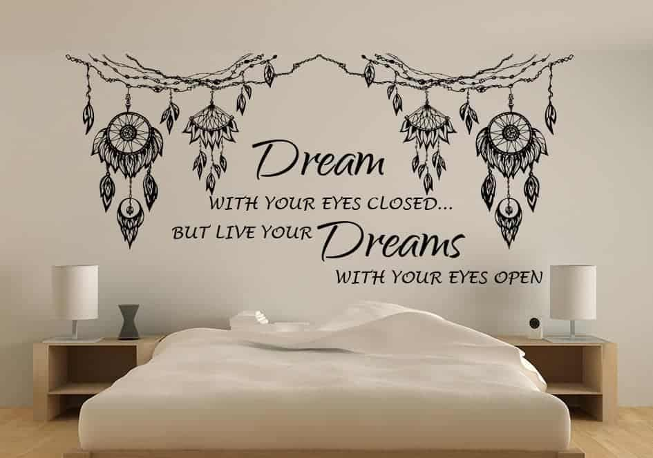 dream catcher quote wall decal | dream catcher wall decal